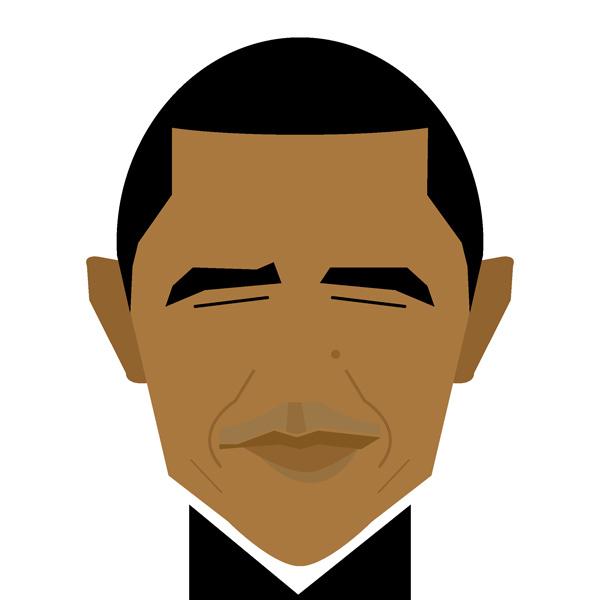Barack Obama Illustration by Jag Nagra
