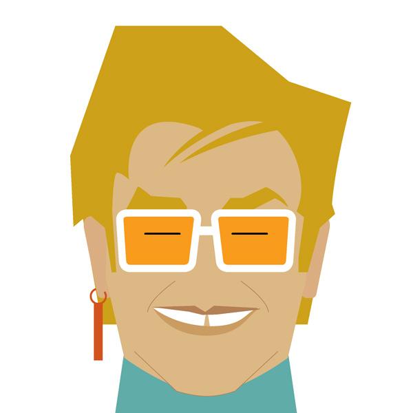 Elton John Illustration by Jag Nagra