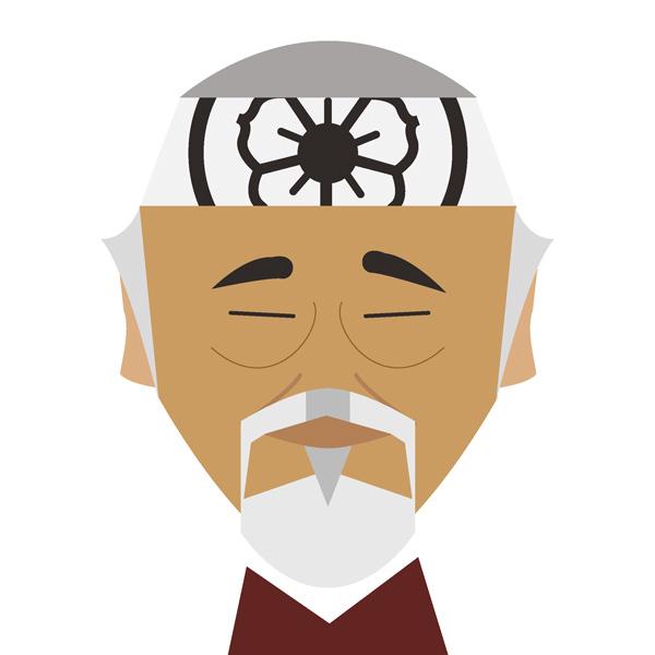 Mr. Miyagi Illustration by Jag Nagra